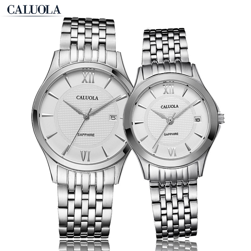 Caluola Quartz Watch Couple Watch Fashion Date Steel Watch CA1018GL