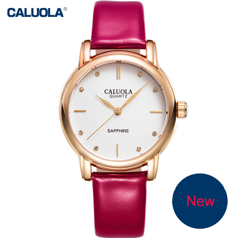 Caluola Fashion Quartz Watch Women Watch Dress Luminous Watch CA1031L