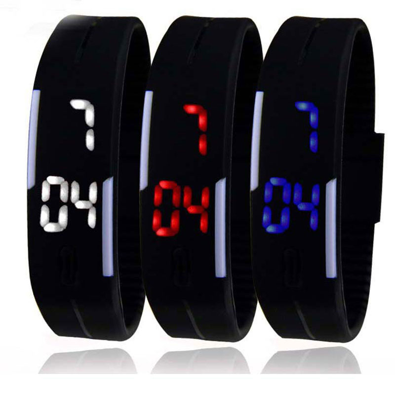 Fashion Electronic LED Digital Wristwatches Waterproof Date Casual Children Watch