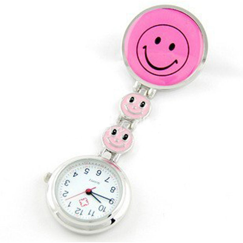 Smile Face Pocket Watch Quartz Casual Women Watch Portable Lovely Watch