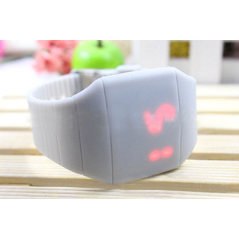 Fashion LED Watch Ultra-Thin PU Touch Screen Silicone Sports Jelly Children Watch