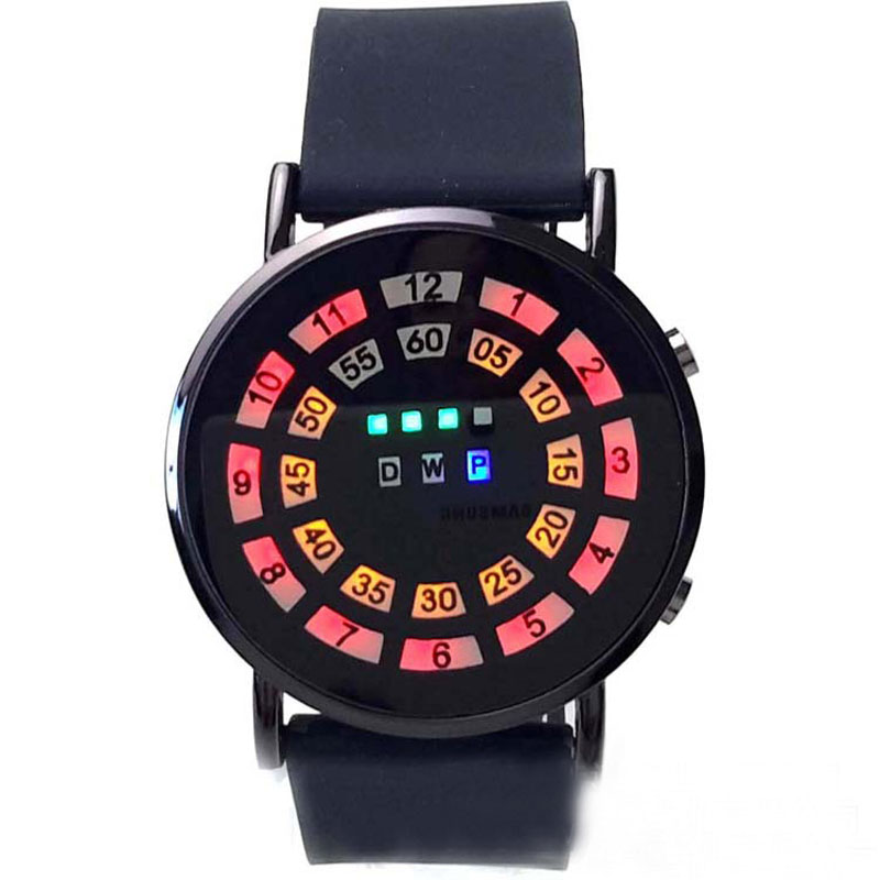 Fashion LED Watch Spidery Dial Ultra-Thin Creative Women Watch Roll Ball