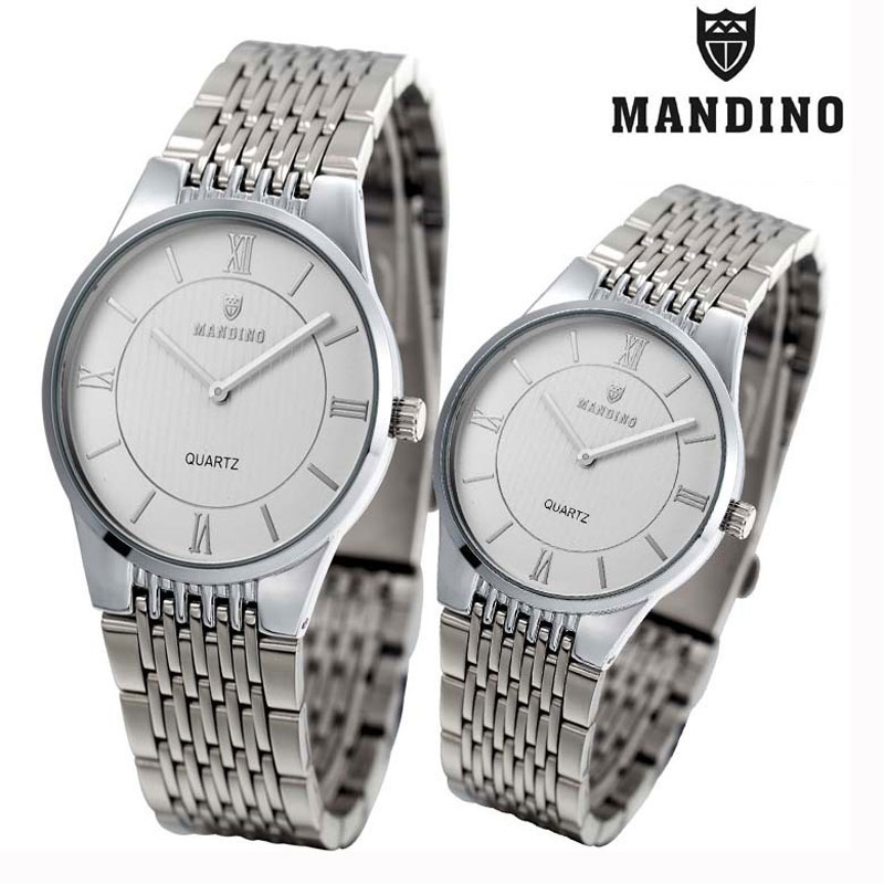 Mandino New Fashion Watch Quartz Ultra-Thin Couple Watch Steel Waterproof 1803