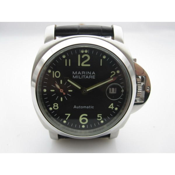 Parnis Marina Militare 40mm Automatic Man Watch Black Dial Luminous
