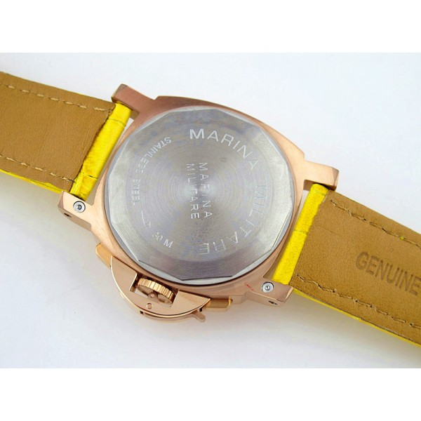 Parnis Marina Militare 40mm Chronograph Yellow Gold Case Men Watch