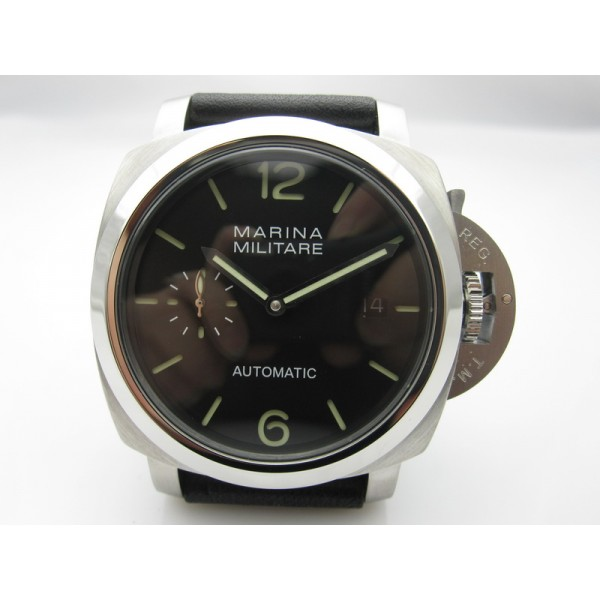 PARNIS Marina Militare 42mm Automatic Watch Sandwich Dial Black Dial Men Watch