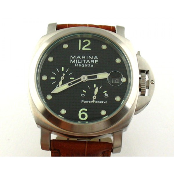 Parnis Marina Militare 44mm Power Reserve Automatic Watch Date Luminous