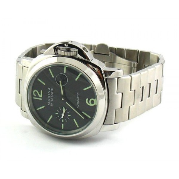 Parnis Marina Militare 44mm Full Steel Auto Watch Date 9 o'clock Subdial