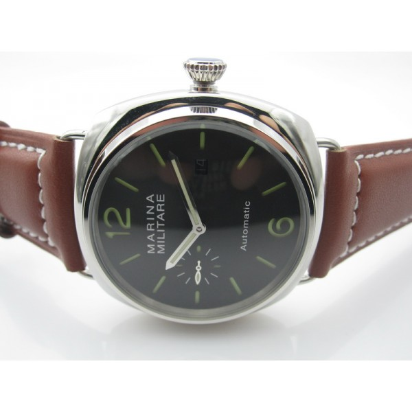 Parnis Marina Militare 45mm Black Dial Date Window Auto Watch Luminous