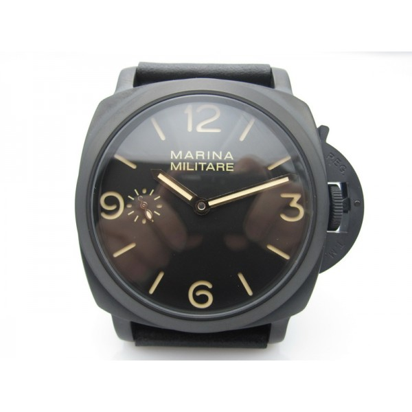 Parnis 47mm Marina Militare Manual Winding Watch Luminous Small Second