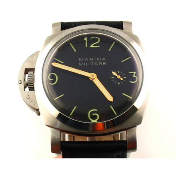 Parnis 47mm Marina Militare Lefty 6497 Manual Winding Watch 1950 Style Luminous