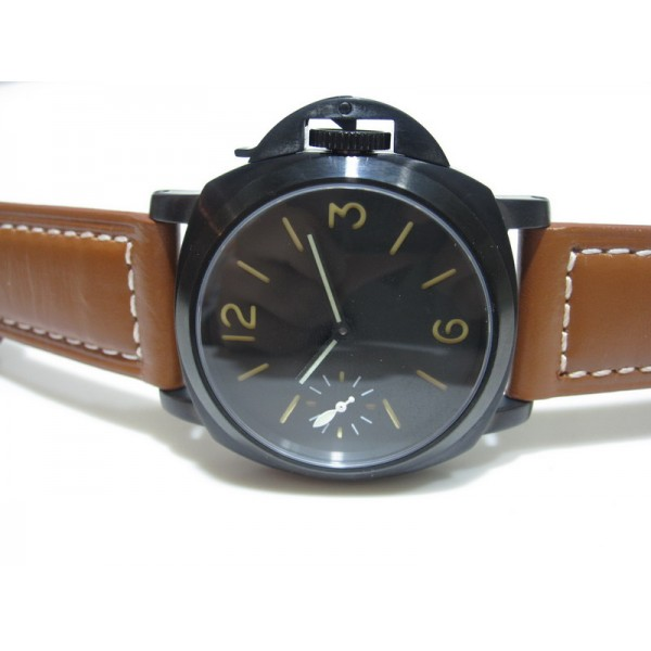Parnis Marina Militare 47mm 1950 Style 6497 Manual Winding PVD Watch Dome Glass Luminous