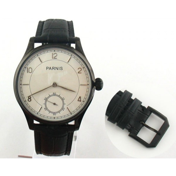 Parnis 44mm Special@6 PVD Watch 6498 Manual Winding Men Watch
