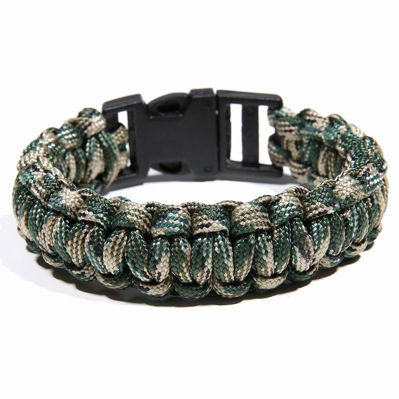 Survival Bracelet 7 Feet Camouflage Paracord Bracelet Outdoor Scraper Whistle Flint