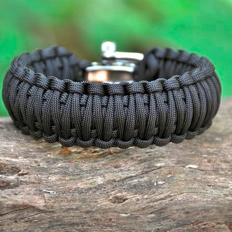 EK 7 Feet Paracord Bracelet Survival Wristband Stainless Steel Buckle Outdoor