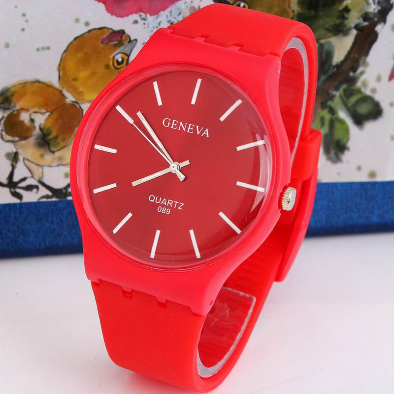 Geneva Women Dress Quartz Watch Casual Gift Silicone Sport Watch