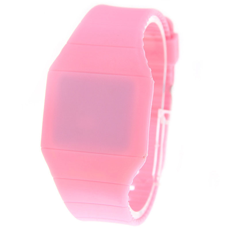 Ultra-thin LED Watch Children Watch Quartz Movement PU Watch