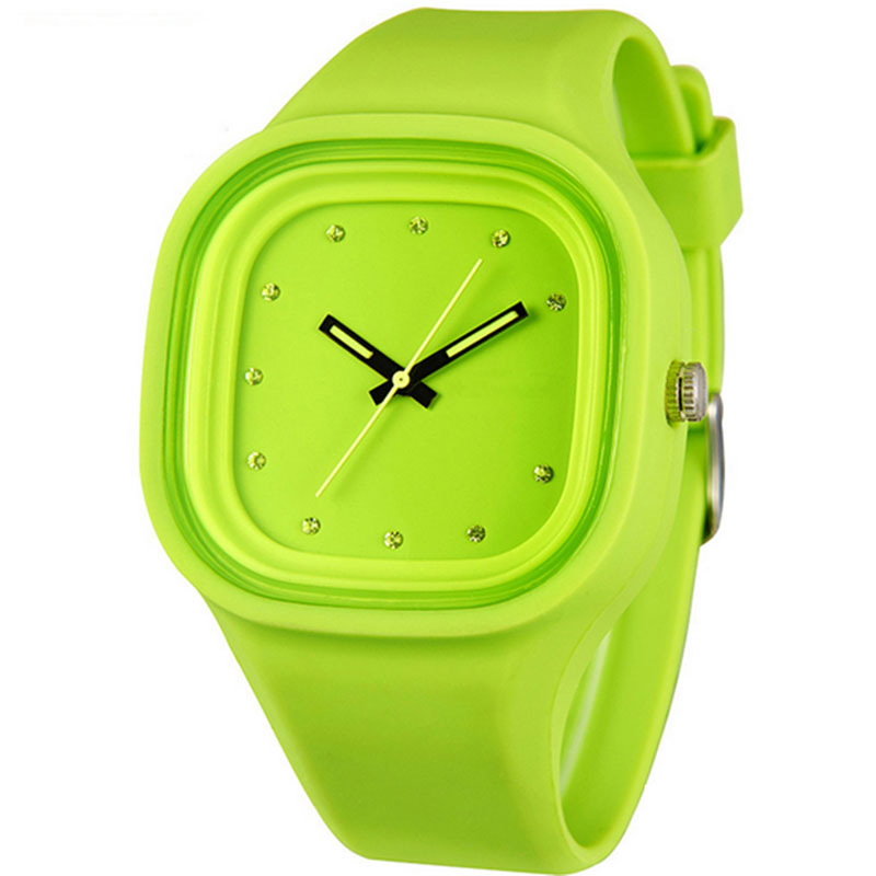 Silicone Square Watch Quartz Children Watch Casual Jelly Watch