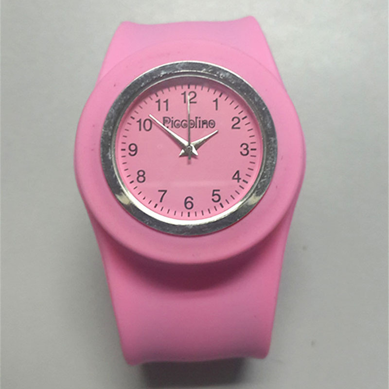 Korean Slap Watch Children Watch Silicone Gift Watch Round Dial