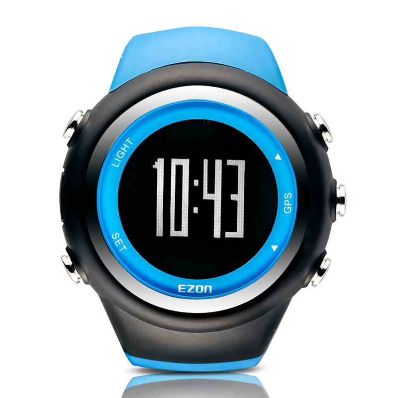 EZON Black Dial Rubber Strap with Pedometer Calorie Counter Digital Watch T031A03