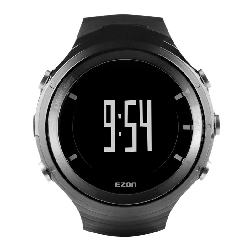 EZON Black Dial Sport Watch With GPS Bluetooth 4.0 Pedometer Digital Watch G3A01