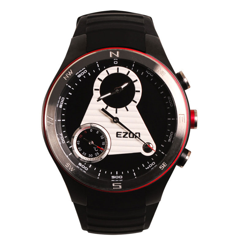 EZON Black/White Dial Analog Display With Altimeter Thermometer Compass Digital Watch H603
