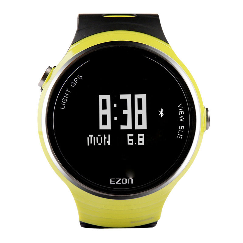 EZON Black Dial Rubber Strap With GPS Pedometer Bluetooth Alarm Digital Watch G1A05