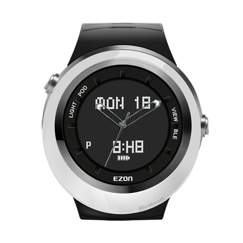 EZON Black Dial Sport Watch With Pedometer Bluetooth Intelligent Reminder Digital Watch S3A02