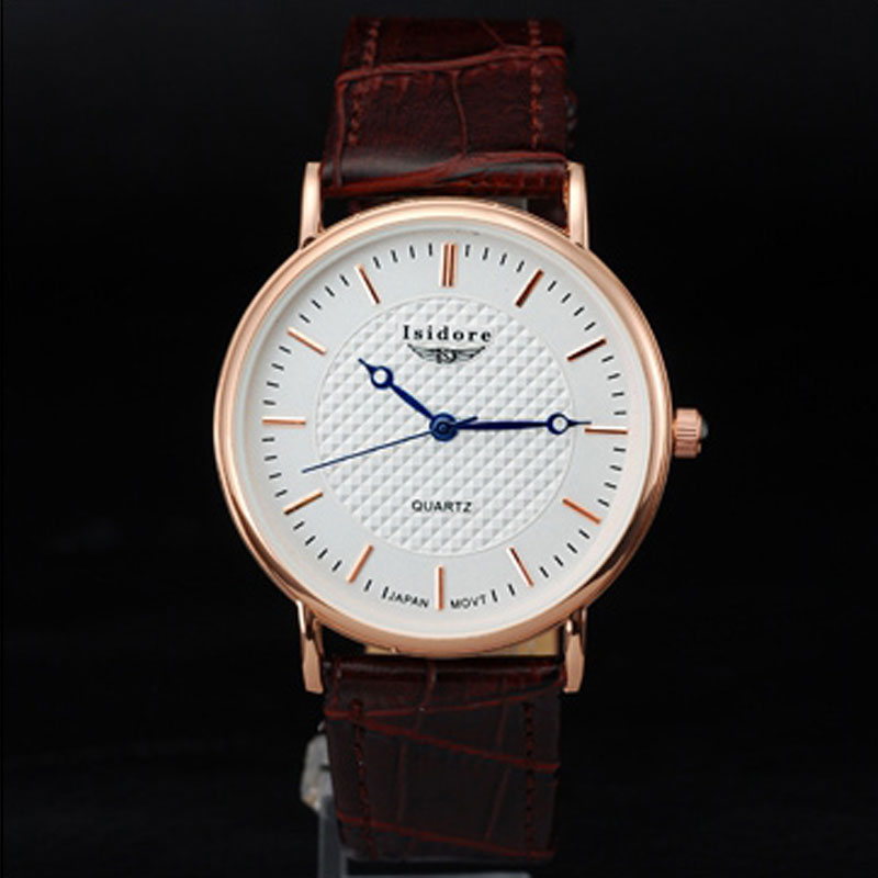 Business Men Watch With White Dial Quartz Ultra Thin Watch 67929