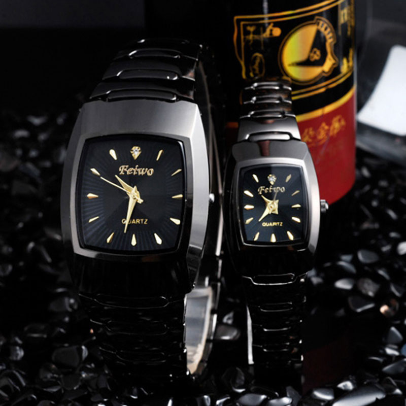Classic Tonneau Watch With Simple Dial Quartz Business Couple Watch 67772