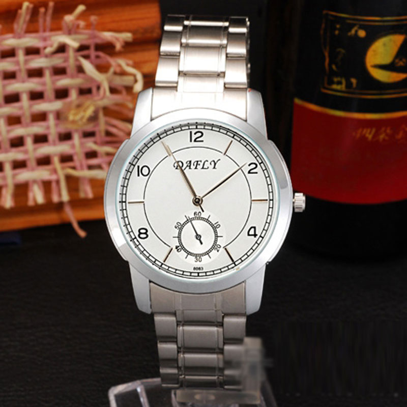 Casual Men Watch With Subdial Quartz Steel Bracelet Watch 69803