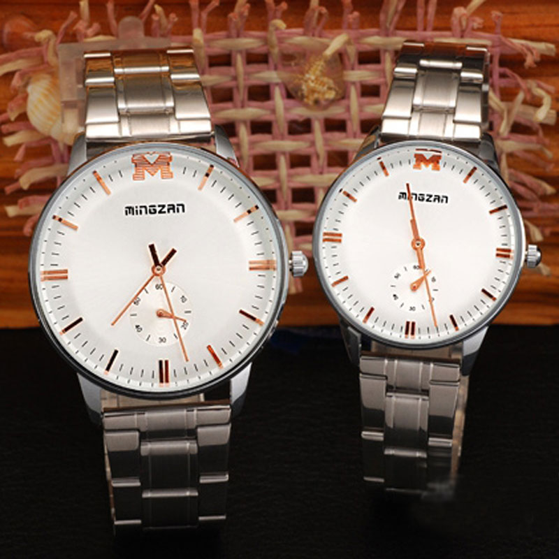 Fashion Steel Watch With Small Second Dial Quartz Couple Watch 69786