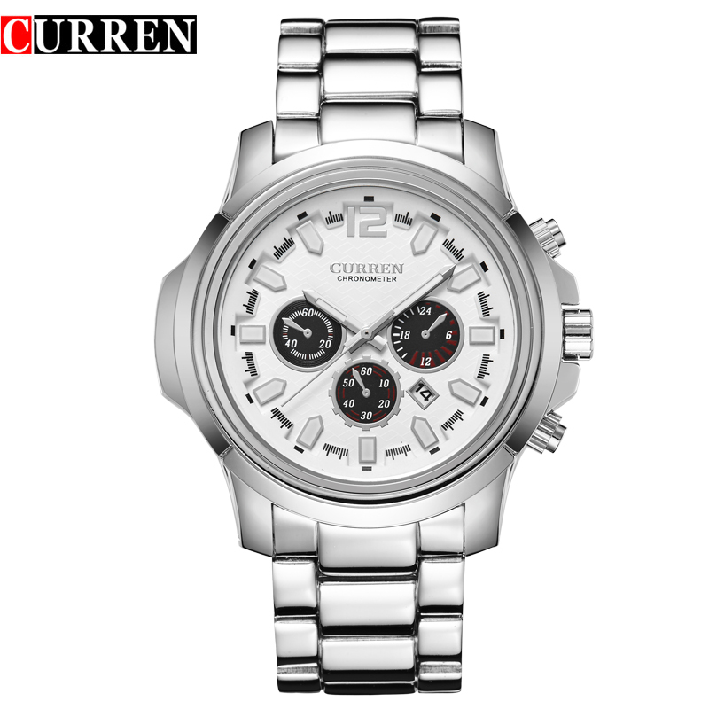 CURREN Business Men Watch With Quartz Date Steel Watch 8059