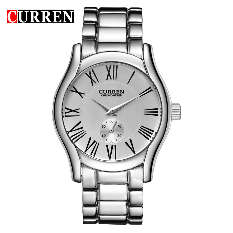 CURREN Casual Men Watch With Quartz Small Second Full Steel Watch 8061
