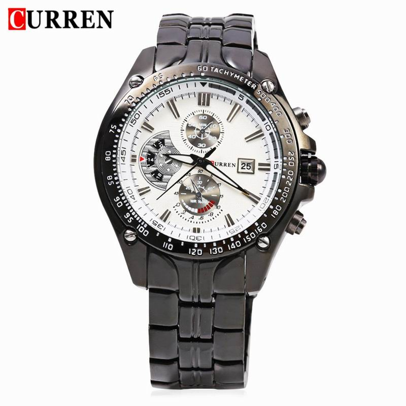 CURREN Casual Watch With Large Dial Quartz Date Steel Men Watch 8083