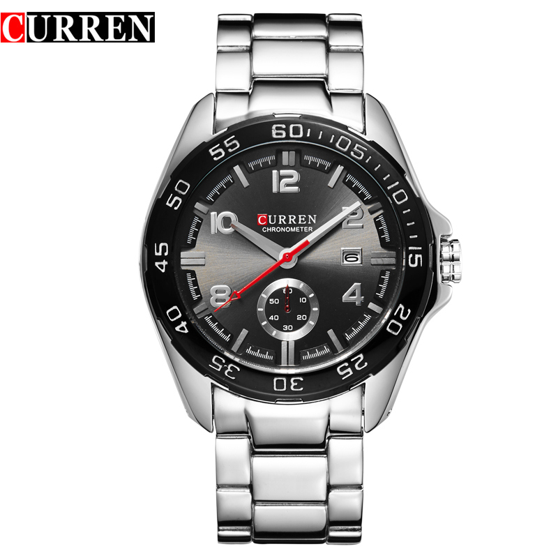 CURREN Casual Watch With Quartz Date Watchproof Men Business Watch 8113