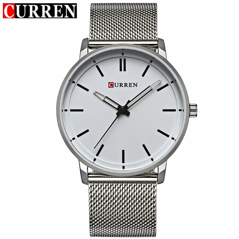 CURREN Casual Quartz Watch With Stick Markers Ultra-Thin Men Watch 8233