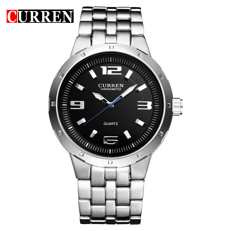 CURREN Business Watch With Full Steel Quartz Casual Men Watch 8036