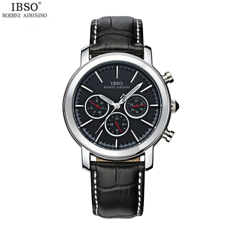 IBSO Fashion Watch With Steel Case Stick Markers Quartz Men Watch 6809