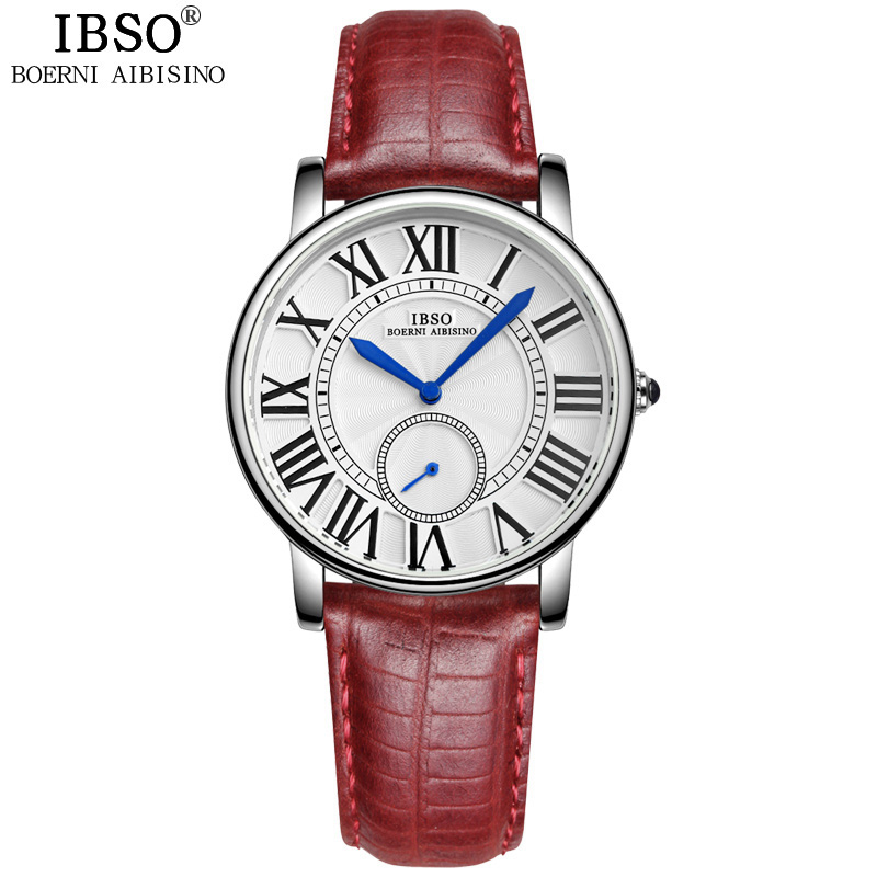 IBSO Fashion Watch With Roman Numeral Markers Steel Quartz Women Watch 6801