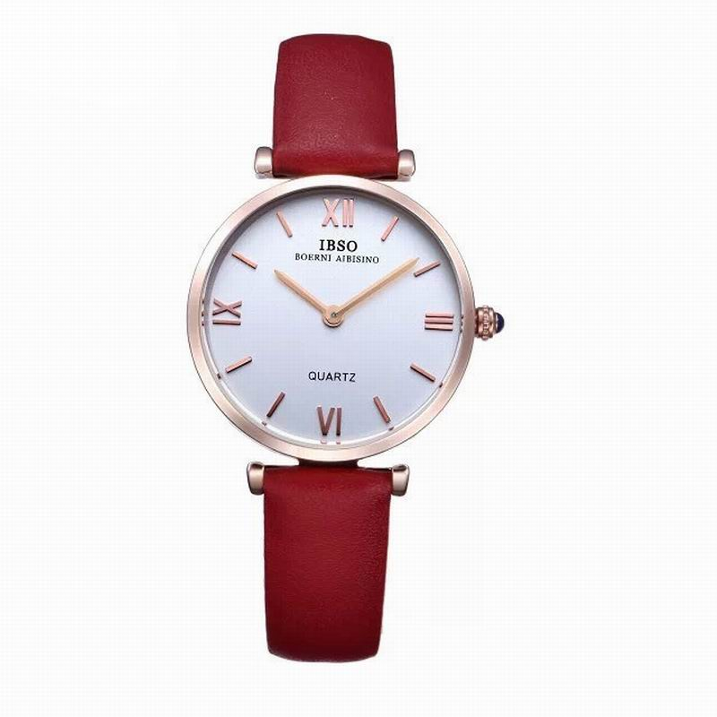 IBSO Casual Women Watch With MOP Dial Leather Strap Quartz Watch 2210