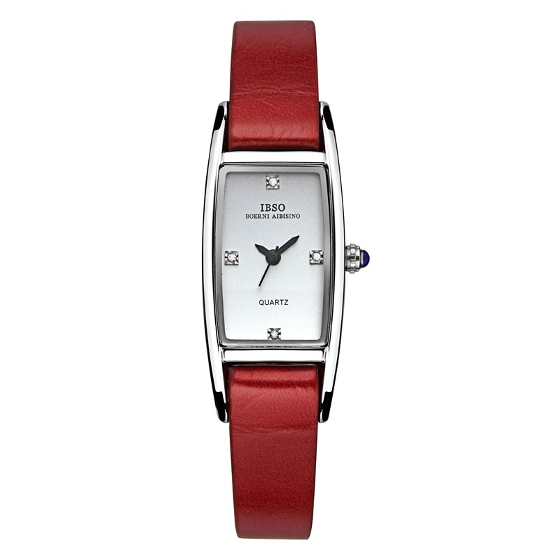IBSO Fashion Women Watch With Quartz Square Dial Leather Watch 3921