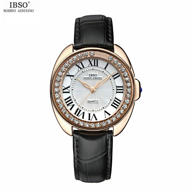 IBSO Dress Women Watch With Quartz Diamond Rose Gold Watch 8116