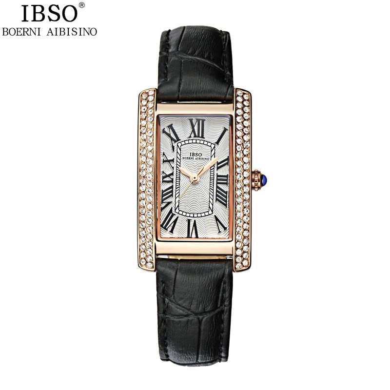 IBSO Casual Women Watch With Square Dial Quartz Diamond Dress Watch 3866