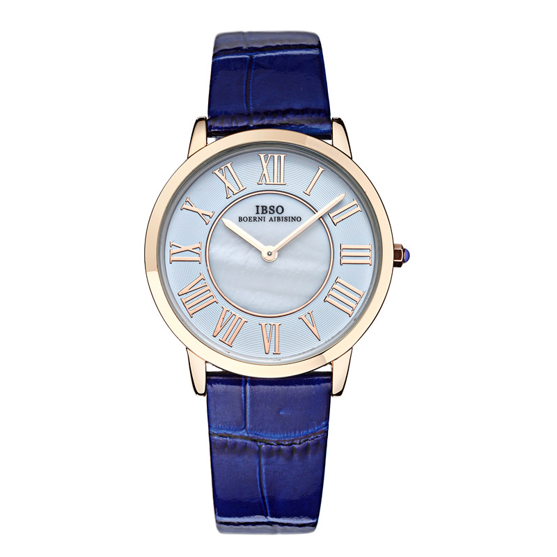 IBSO Casual Women Watch With Roman Numbers Quartz MOP Dial Watch 2202