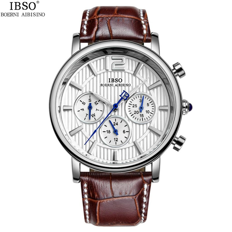IBSO Business Men Watch With Day-Date Quartz Steel Case Watch 3968