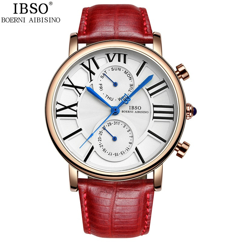 IBSO Fashion Women Watch With Quartz Date Rose Gold Watch 6802
