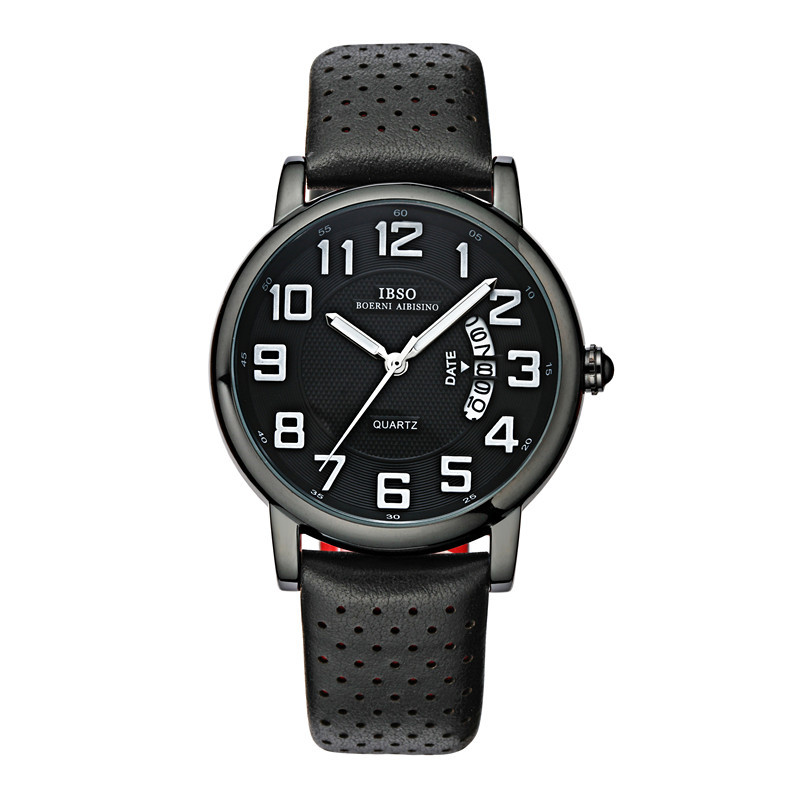 IBSO Casual Men Watch With Quartz Date Black PVD Watch 3860