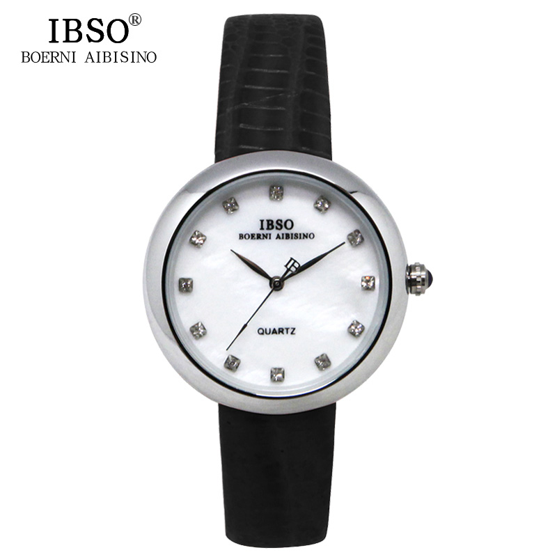 IBSO Fashion Women Watch With Diamond MOP Dial Quartz Watch 3859