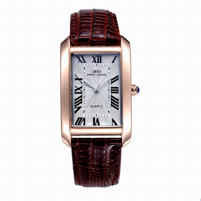 IBSO Fashion Quartz Watch With Square Dial Roman Numbers Women Watch 3832